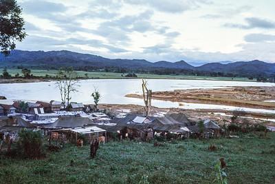 Flood deposits at refugee village near Paradis