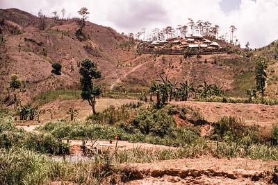 Village defenses in Dak Pek (near tri-border area)