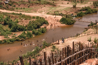 Enjoying the river in Dak Pek (near tri-border area)