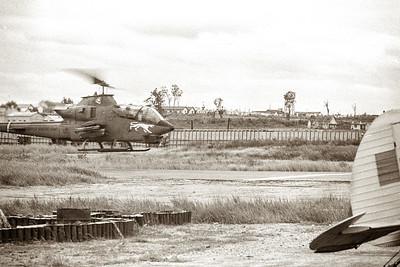 Cobra landing at Kontum airport