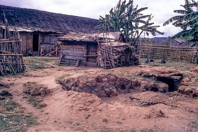 Village defenses in northern Kontum province