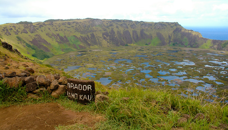 Rano Kau<br /> <br /> A 324 meter (1062 feet) tall extinct volcano that forms the southwestern headland of Easter Island