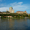 Esztergom Basilica and the old town fortifications and wall.