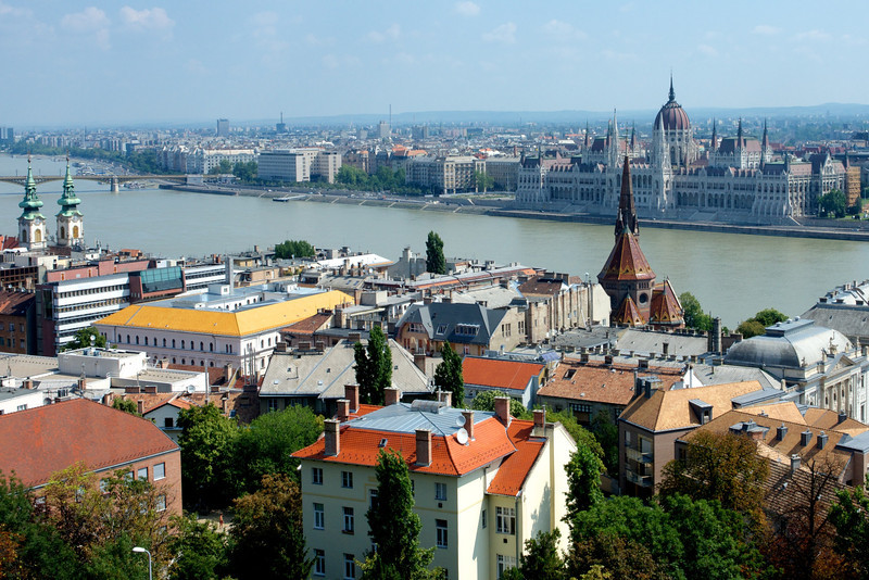 The Danube and Parliament.