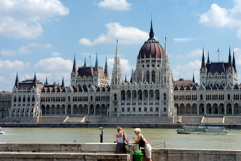 Parliament Building on the Pest side of the Danube.