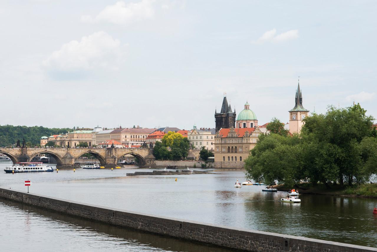 Prague view with Charles Bridge.