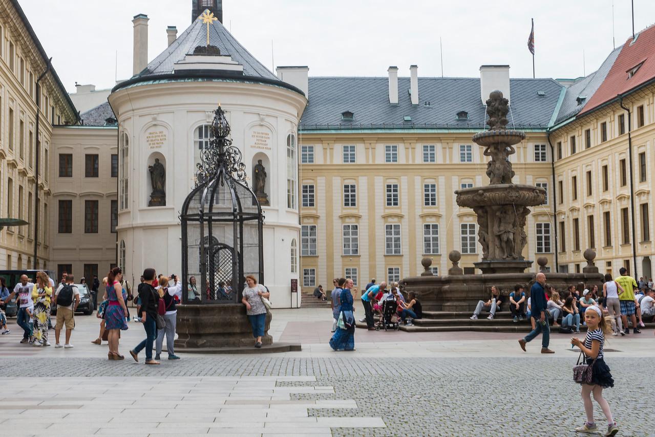 Czech Castle courtyard.