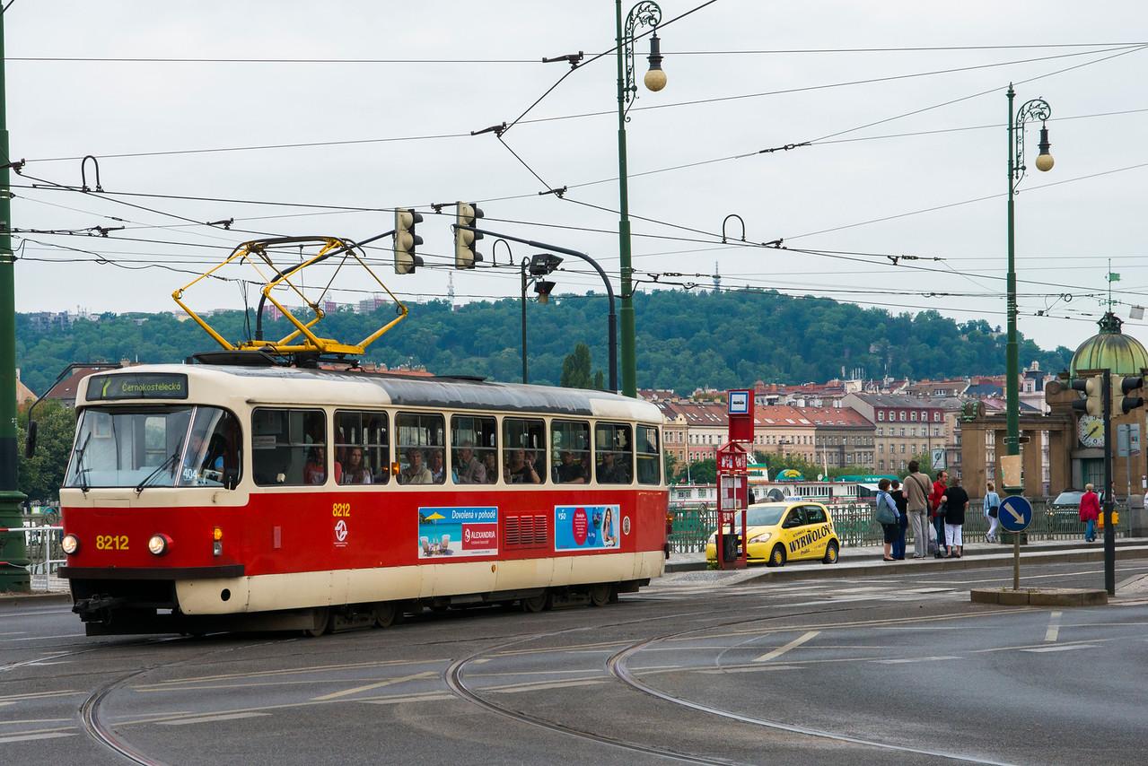 Prague tram.  Mr. Gorbachev tear down these cables!