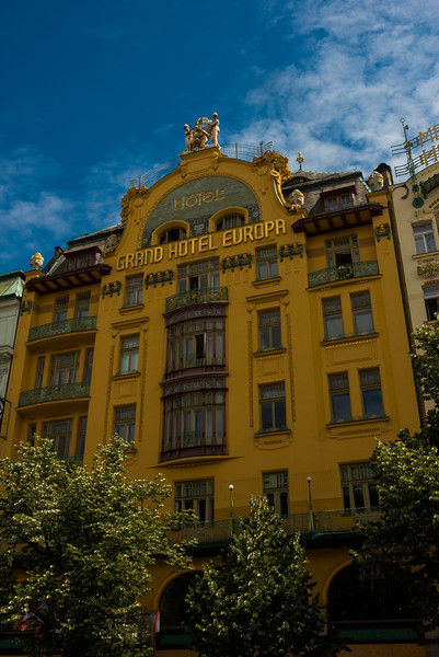 The Grand Hotel Europa with original Art Nouveau features.
