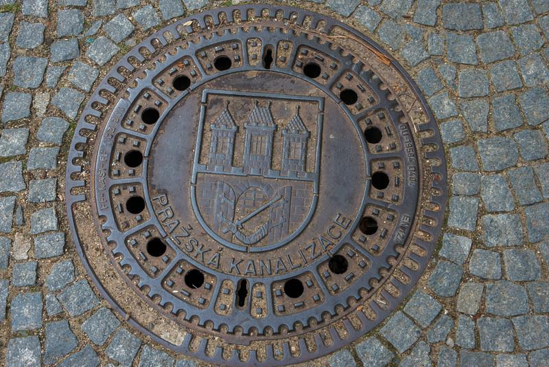Prague manhole.