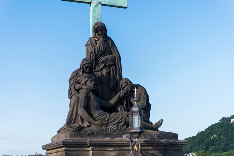 Pieta (1859) Charles Bridge statue.