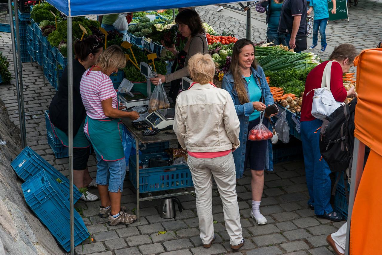 Saturday open-air market.