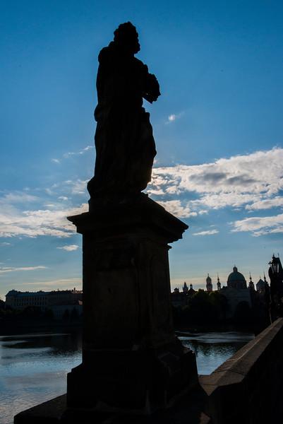 Charles Bridge statue.