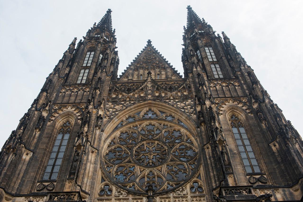 Saint Vitus Cathedral at Prague Castle.