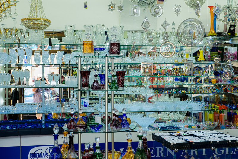 Bohemian crystal shop.