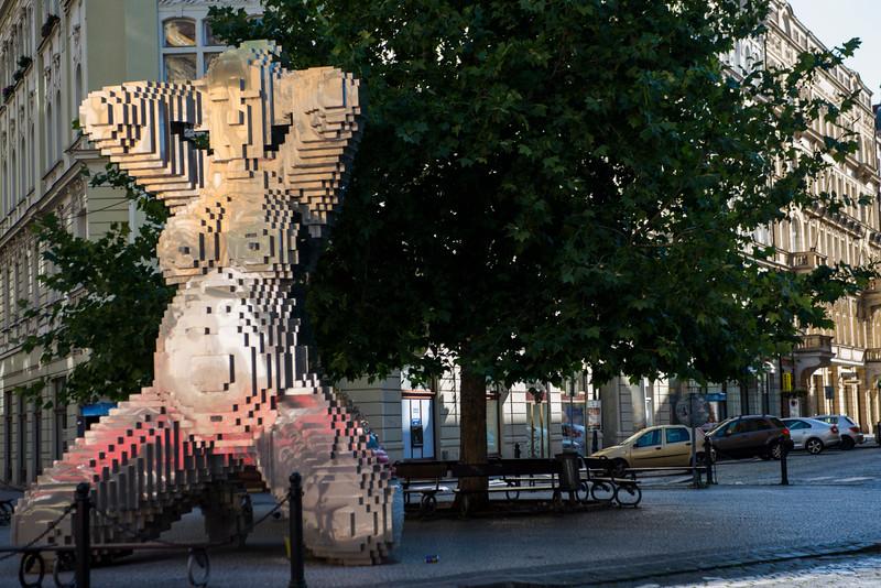 Risque street sculpture.