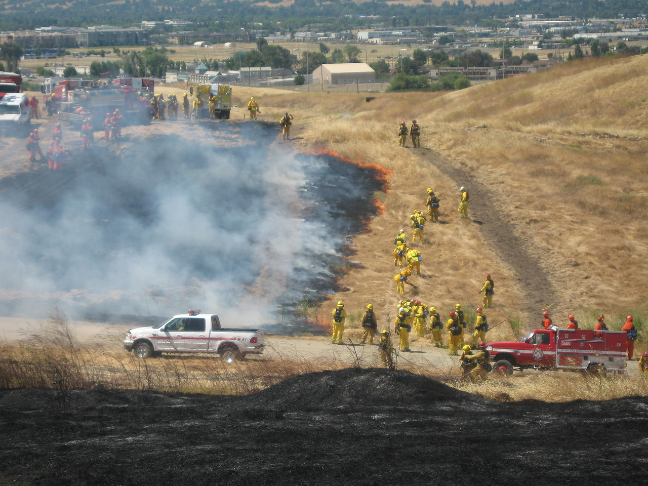 Prescribed fire burn and live fire training