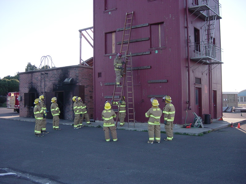 Fire academy ladder training