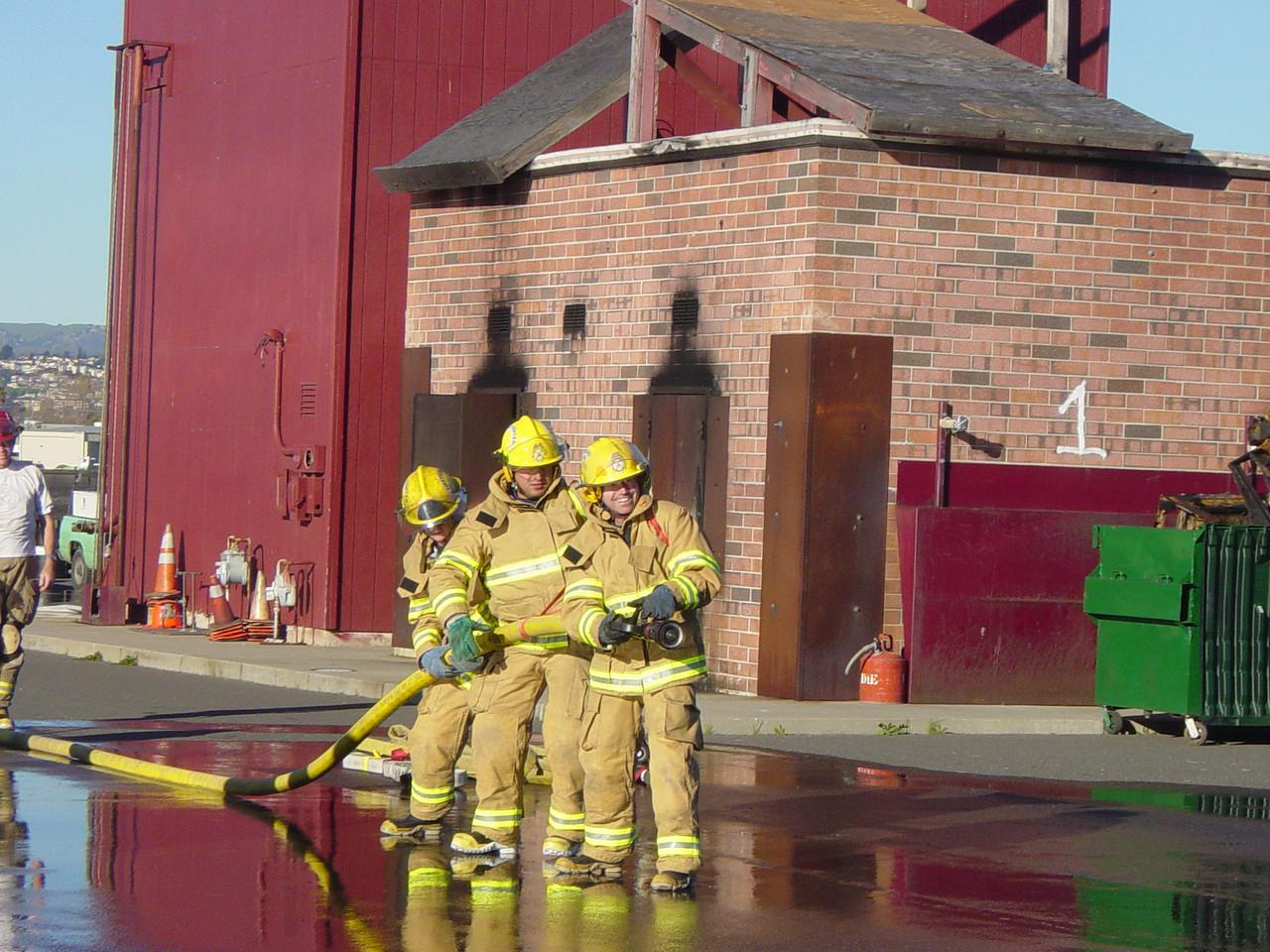 Fire academy hose training