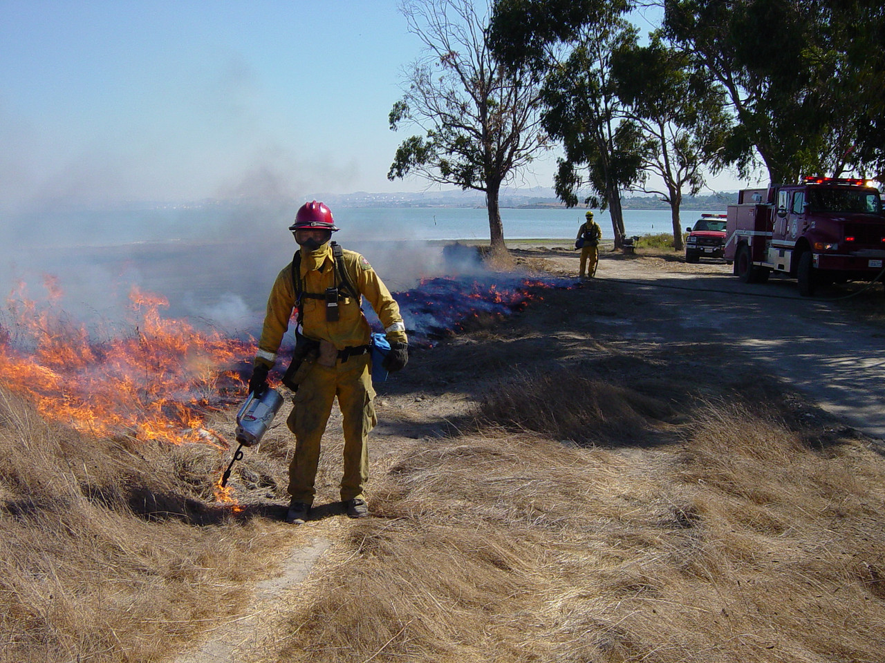 Prescribed burning at Point Pinole