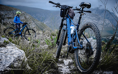 Pat de la Harpe eBiking (mountain biking) on the Giant Stance E+ Pro 29. Western Cape. South Africa