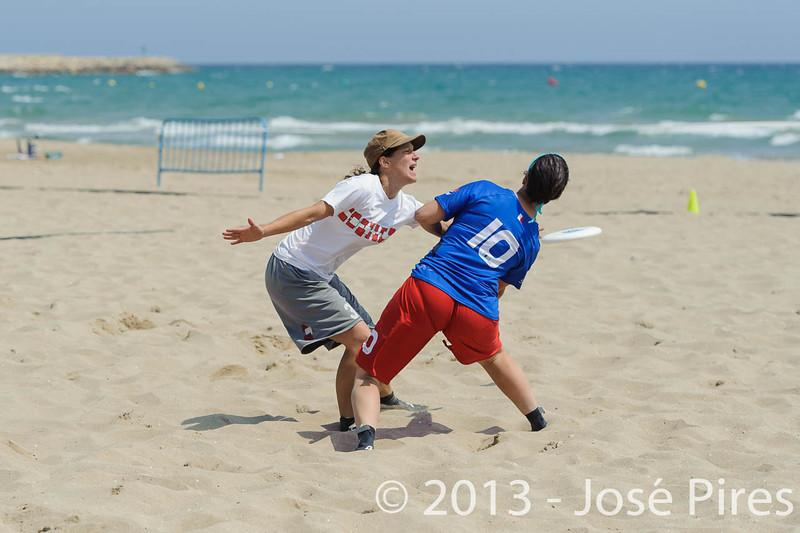 ECBU 2013. Calafell. Spain.<br /> France vs Austria. Mixed Masters Division.<br /> PhotoID : 2013-06-27-0058