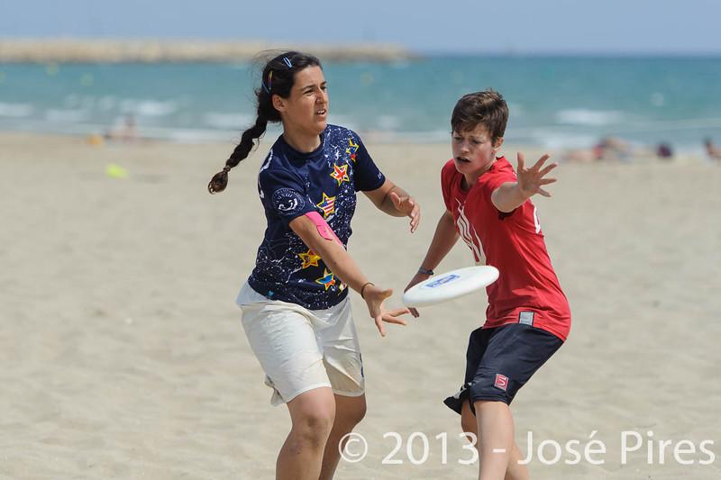 ECBU 2013. Calafell. Spain.<br /> Turkey vs United European Islands. Mixed Division.<br /> PhotoID : 2013-06-28-0734