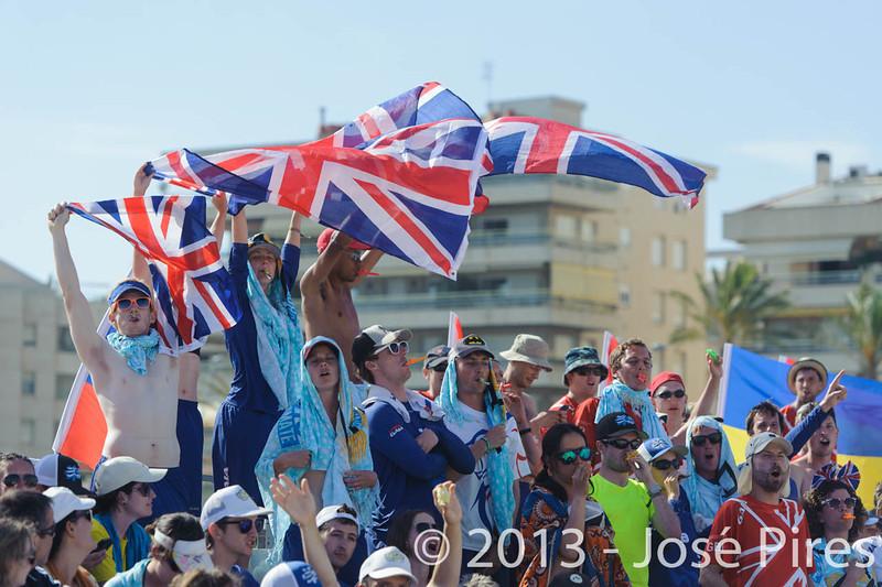 ECBU 2013. Calafell. Spain.<br /> Sidelines. Germany vs Great Britain. Women's Masters. Final.<br /> PhotoID : 2013-06-29-1602