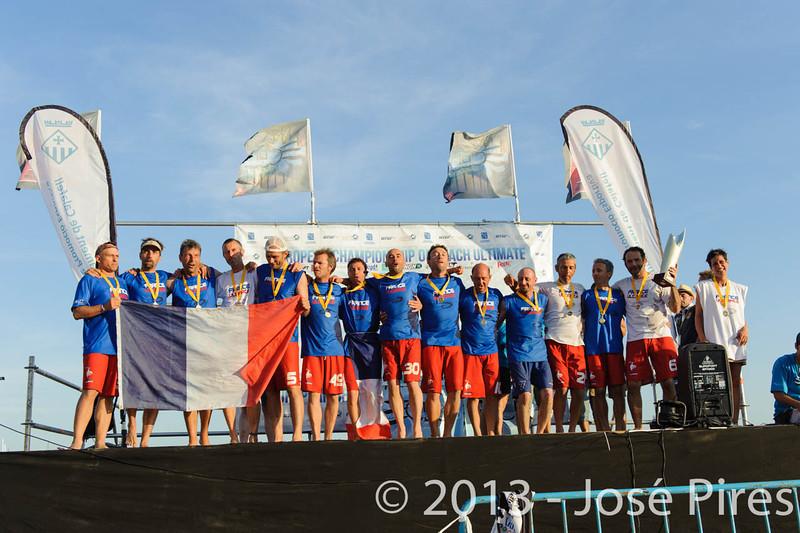 ECBU 2013. Calafell. Spain.<br /> France Grand Masters. European Champions. Gold Medal.<br /> PhotoID : 2013-06-29-2207
