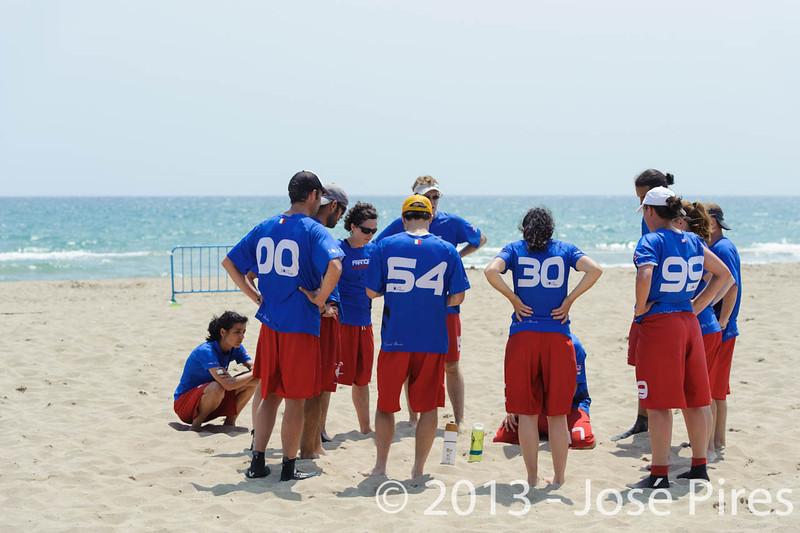 ECBU 2013. Calafell. Spain.<br /> France vs Austria. Mixed Masters Division<br /> PhotoID : 2013-06-27-0012