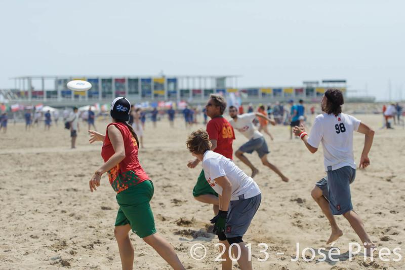 ECBU 2013. Calafell. Spain.<br /> Portugal vs Austria. Mixed Division.<br /> PhotoID : 2013-06-28-0555