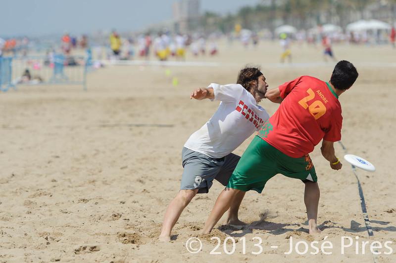 ECBU 2013. Calafell. Spain.<br /> Portugal vs Austria. Mixed Division.<br /> PhotoID : 2013-06-28-0652