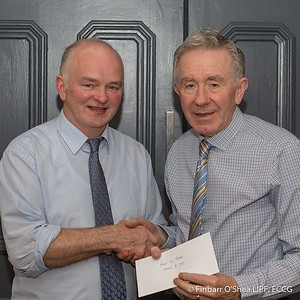 Grade A - second place - Finbarr O'Shea. With Kevin Day