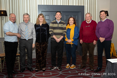 Best in Category Winners: Finbarr O'Shea (Landscape, Seascape, Architecture), Noelle Lowney (Portrait), Paul Stack (Macro), Rosanne Donovan (Black and White, Reportage/Documentary), John Tait (Open), Niall Sharkey (Sport, HDR). With Kevin Day