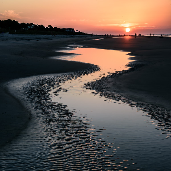 Tidal pool sunrise