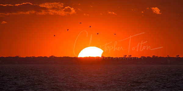 Eclipse Sunset over Norfolk, VA