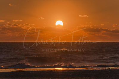 Solar eclipse sunrise