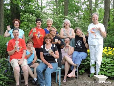 ?, Mo Norrie, Kathy Tinney, Jerri Penrose, Diane Black, Sonja Smith, Heidi Roy, Sheila Royer, ?, Nancy Hooper, Rose DeLottenville