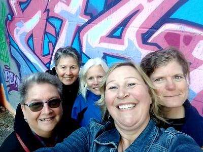 Joan Bowley, Sue Bools, Karen Carroll, Melanie Jone Drost, Nancy Hooper.