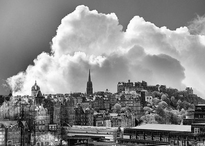Castle Clouds (Double Exposure).