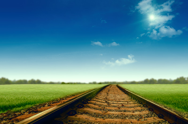 Beautiful road to your dream, abstract travel and transportation backgrounds