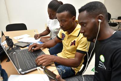 Team Fishery Hub designing their innovation