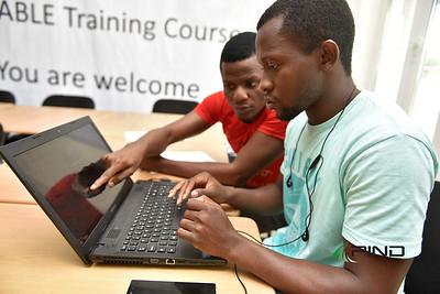 Team Safari working on their innovation