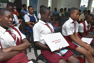 Cross section of students at the menstural hygine day event 5