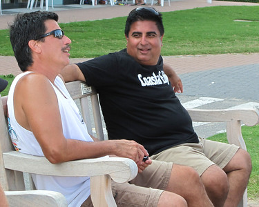 One of the few times George & D sat down during the set up and running of the 48th Annual ECSC. They looked so relaxed in this photo...
