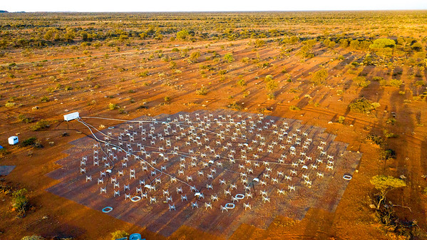 An aerial view of the Engineering Development Array. Credit: ICRAR/Curtin.