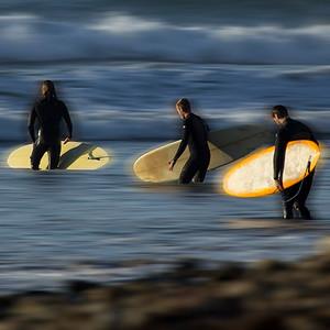 Longboarders at Rincon