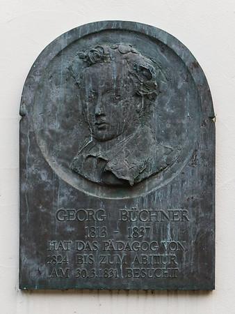Bärbel Dieckmann DS: Plakette Georg Büchner am Alten Pädagog