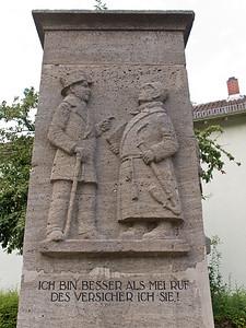 Niebergallbrunnen von Well Habicht DS in der Großen Bachgasse