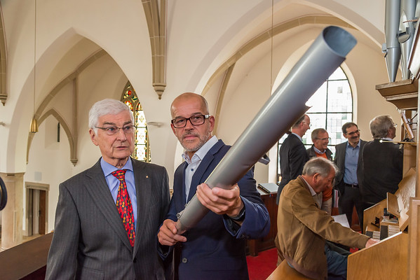 Pressekonferenz der Dotter-Stiftung zur Erweiterung und Sanierung der Orgel von St. Josef, Darmstadt-Eberstadt am 17. Mai 2018 (Foto: Christoph Rau)